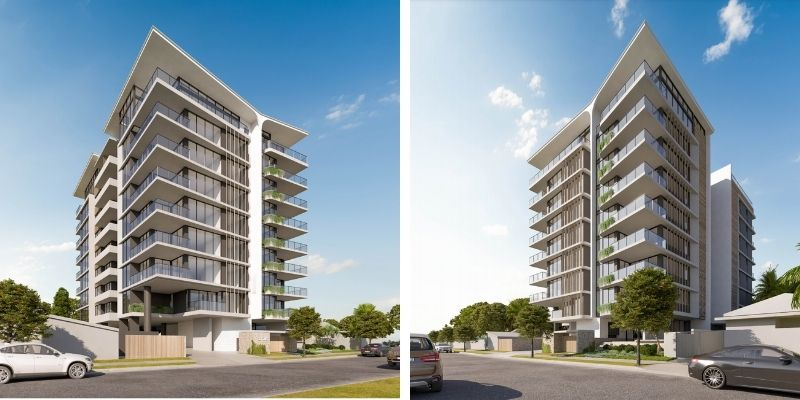 ▲ Gold Coast development. Plans have been lodged for a nine-storey building at 14-18 Twenty Eighth Avenue, Palm Beach.