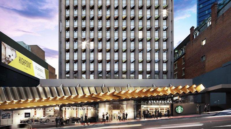 Plans for 288 Edward Street in Brisbane CBD.
