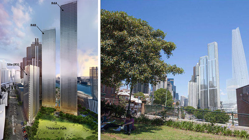 ▲ Part of Lendlease's One Sydney Harbour development, the final tower (R5) in a set of three designed by Renzo Piano Building Workshop has been approved by NSW's Independent Planning Commission.