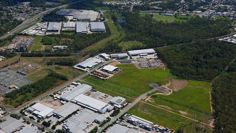 ▲ The Meadowbrook estate, south of Brisbane, will feature 19 warehouses.