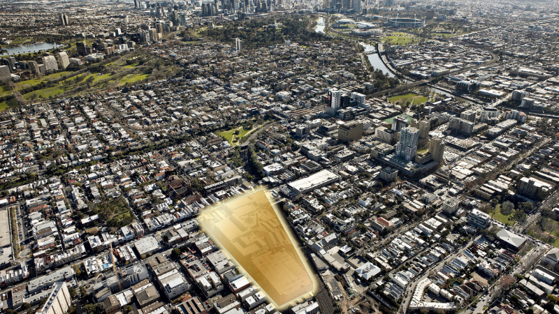 ▲ The South Yarra Jam Factory site on Chapel St is almost 20,000sq metres. Image: Newmark Capital