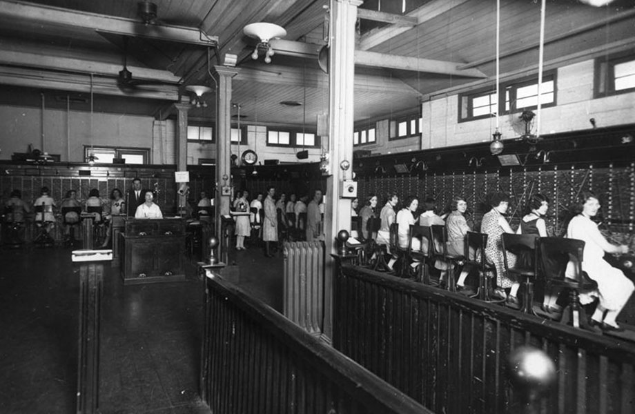 Inside the Exchange circa 1927.