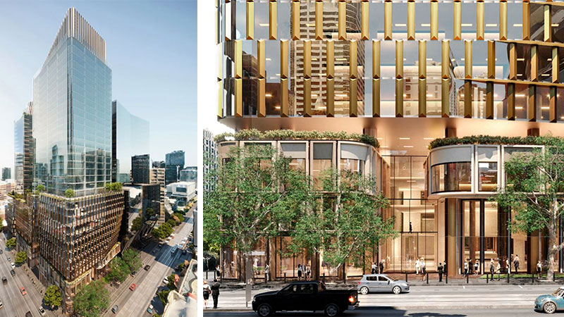 ▲ Charter Hall's plans for the 34-storey twin tower project at 555 Collins Street.
