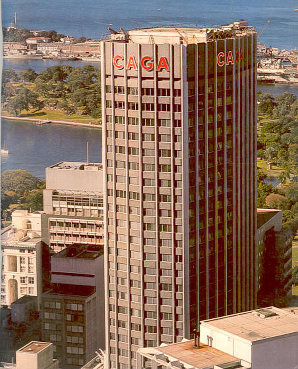 The 30-storey Caga House Sydney was completed in 1977.