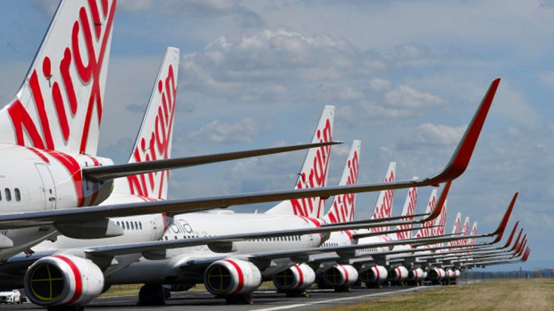 ▲ As a result of the boarder closures Virgin Australia went into voluntary administration last month following the federal government's rejection of a $1.4 billion bailout,