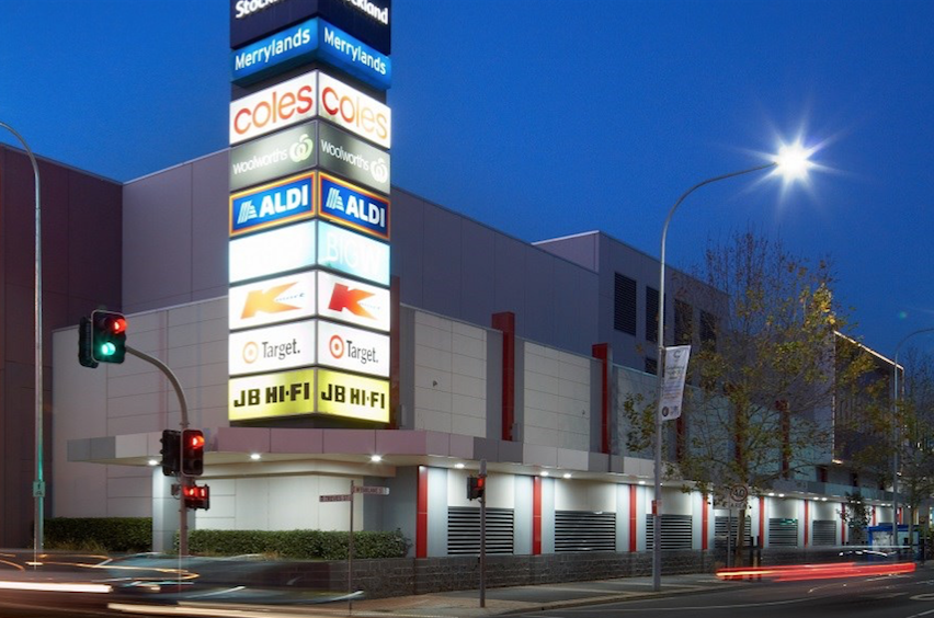 ▲ Stockland Merrylands Shopping Centre is located across the road from Merrylands Court.