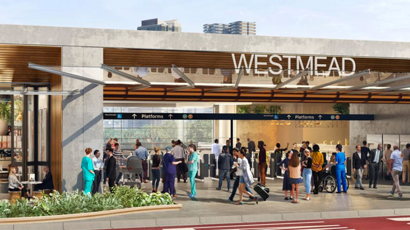 ▲ Sydney Metro West. Artist impression of Westmead metro station.