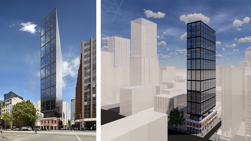 ▲ De Group's WMK designed plans for 263 William Street, Melbourne.