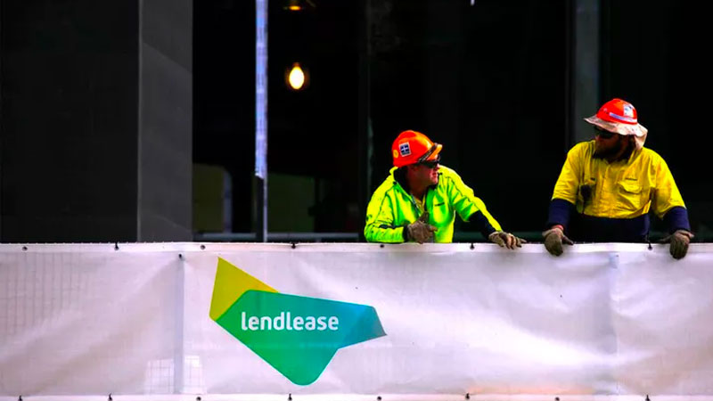 ▲ Investors from Australia and abroad have filled a class action against LendLease Corporation Limited. Image: Lendlease at a construction site in central Sydney, Australia