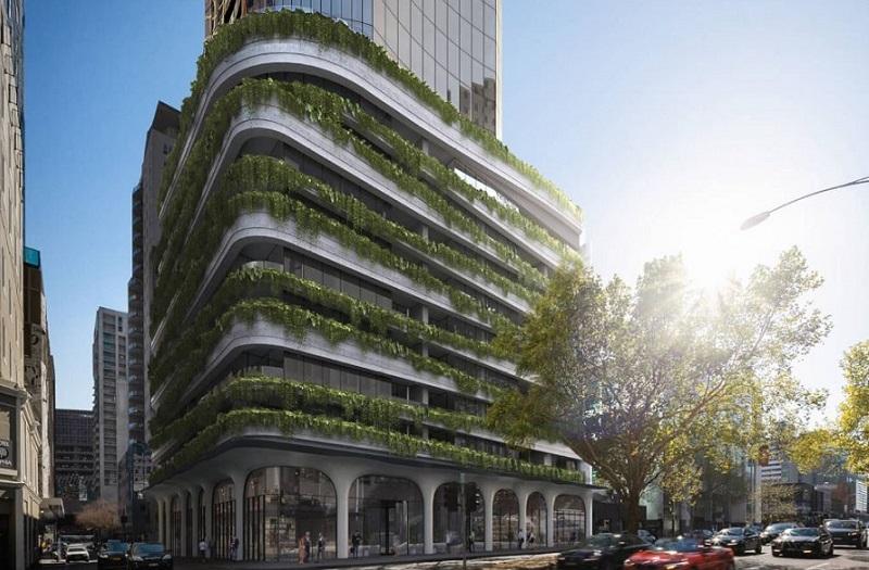 ▲The lower half of Aspire Melbourne tower designed by Elenberg Fraser.