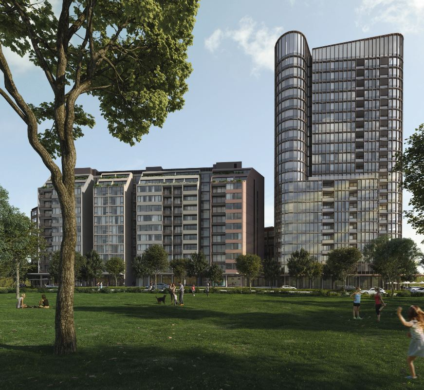 Mirvac's proposed four towers, known as GS15, range from seven to 22 storeys.