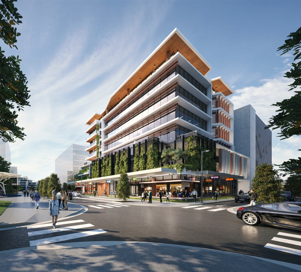Demand for commercial space in the new Maroochydore CBD is building momentum with more than 40 per cent of a new sustainable office building already leased.