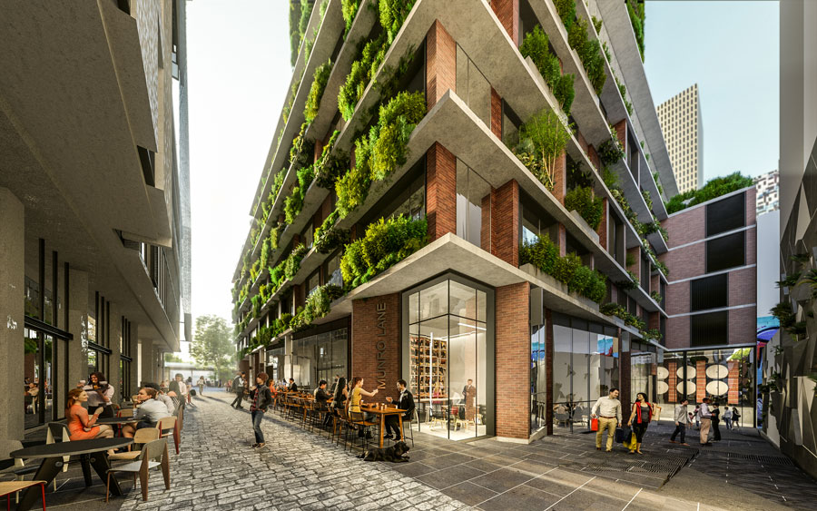 The Munro redevelopment will feature intimate laneways, shops and cafes.