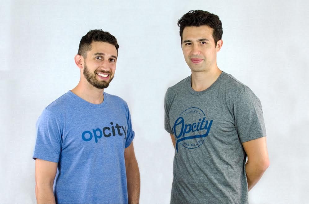 OpCity founders Ben Rubenstein (left) and Michael Lam