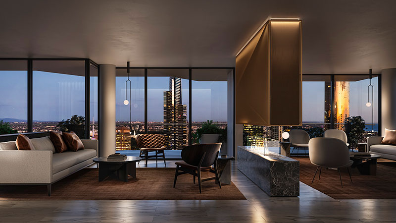 ▲ The luxury apartments, designed by architects Woods Bagot and New York-based SHoP Architects, are currently being marketed by Colliers International. Image: Supplied