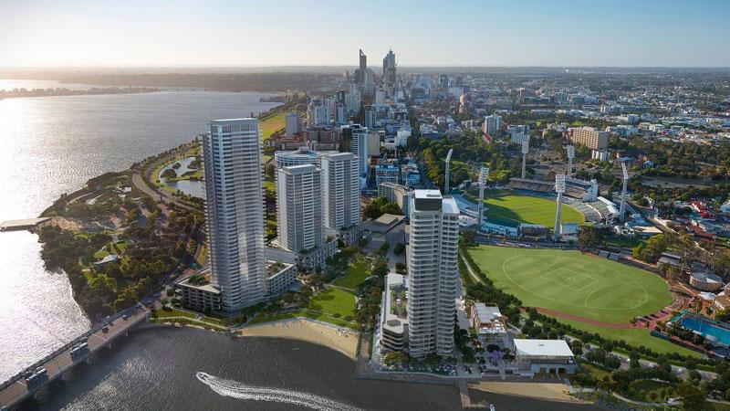Aerial shot of Waterbank Perth Lendlease Development Pipeline