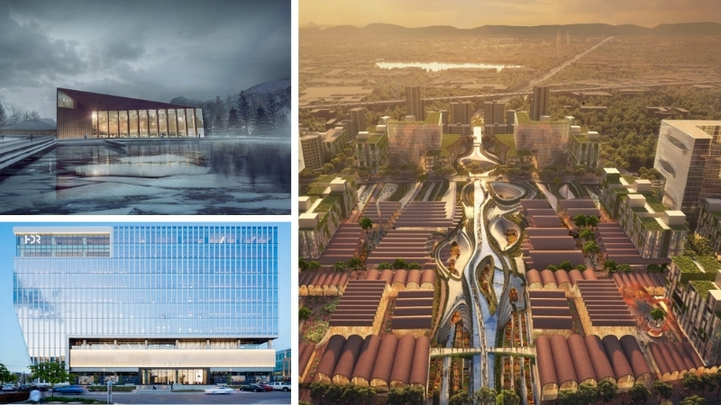 the icy Kolos data centre in Ballengen in Norway, the HDR global headquarters in Nebraska and the Chengdu Transit Oriented Development in Sichuan, China.
