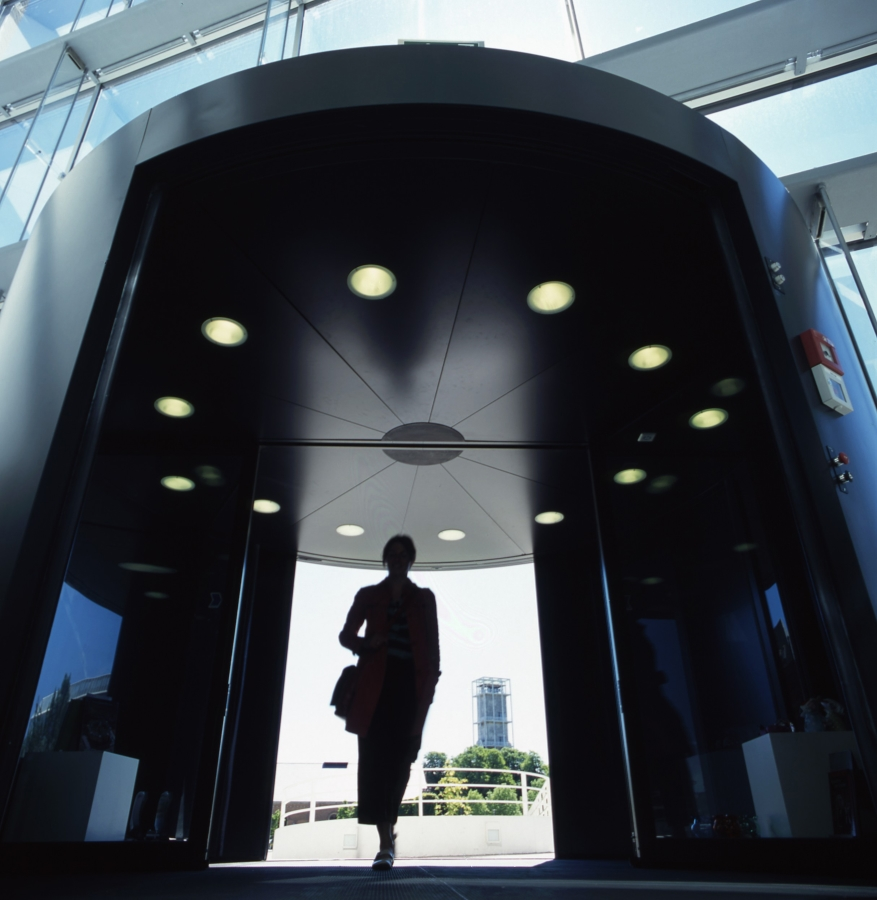 Boon Edam's broad security entrance suite extends from Turnlock site perimeter access to sophisticated building entrance and interior portals such as Tourlock and Circlelock, with built-in StereoVision 2 retinal recognition and highly accurate time-of-flight range imaging camera technology
