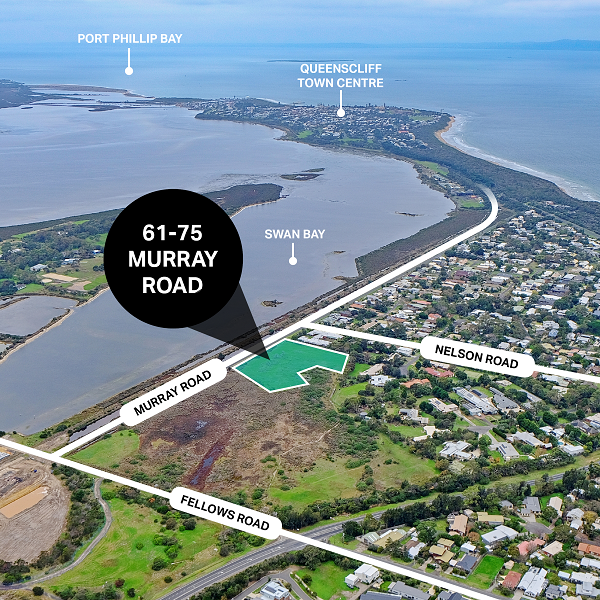 Located at 61-75 Murray Road, the 9,509sqm site is being offered with a Council-endorsed development plan for a 13 lot residential development.