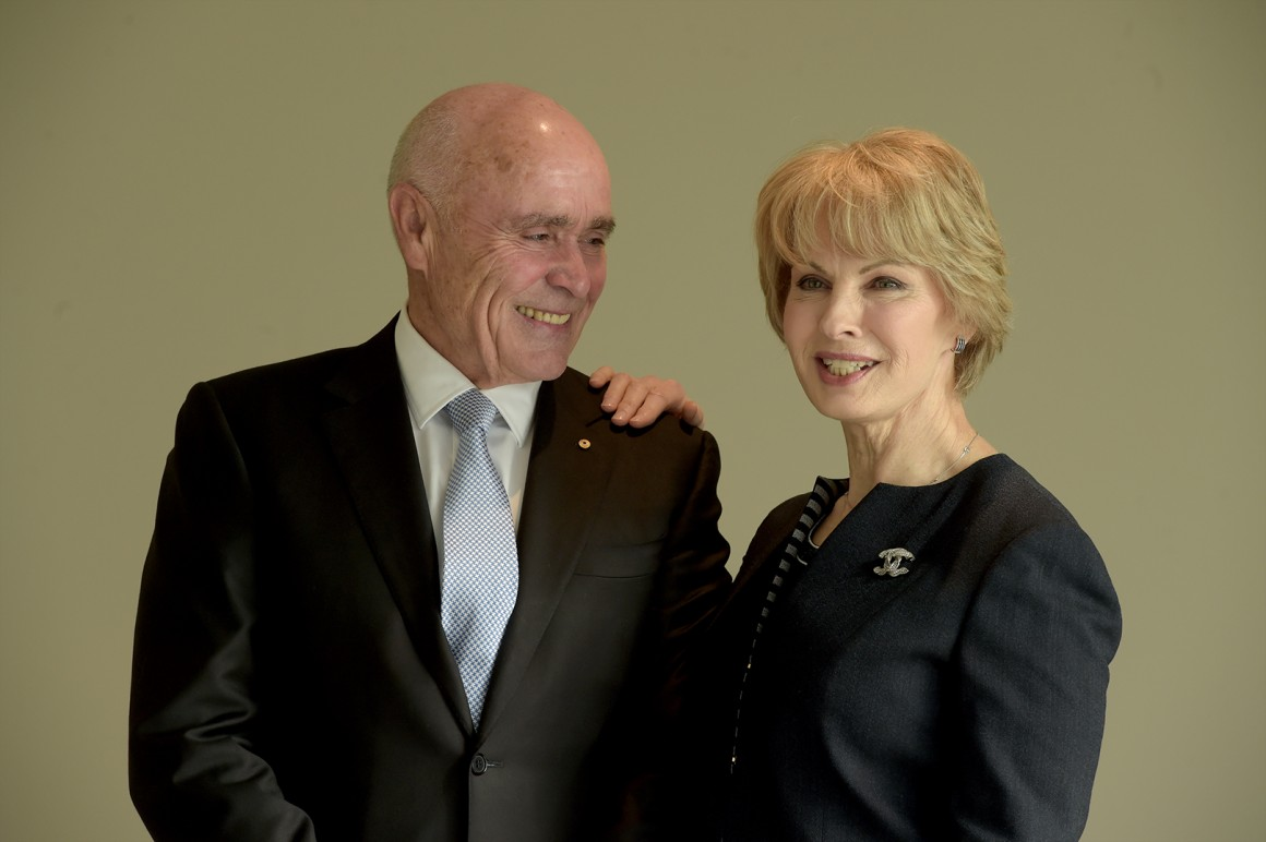 Paul Little AO and Jane Hansen of the Hansen Little Foundation.