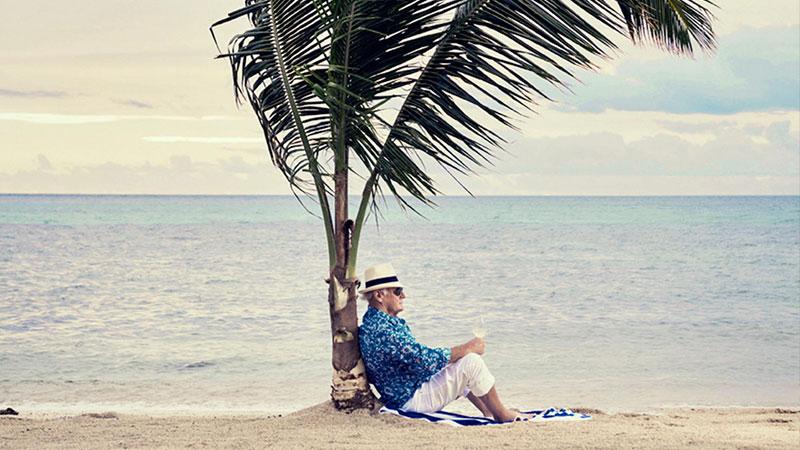▲ Walker on his private Island Kokomo in Fiji.