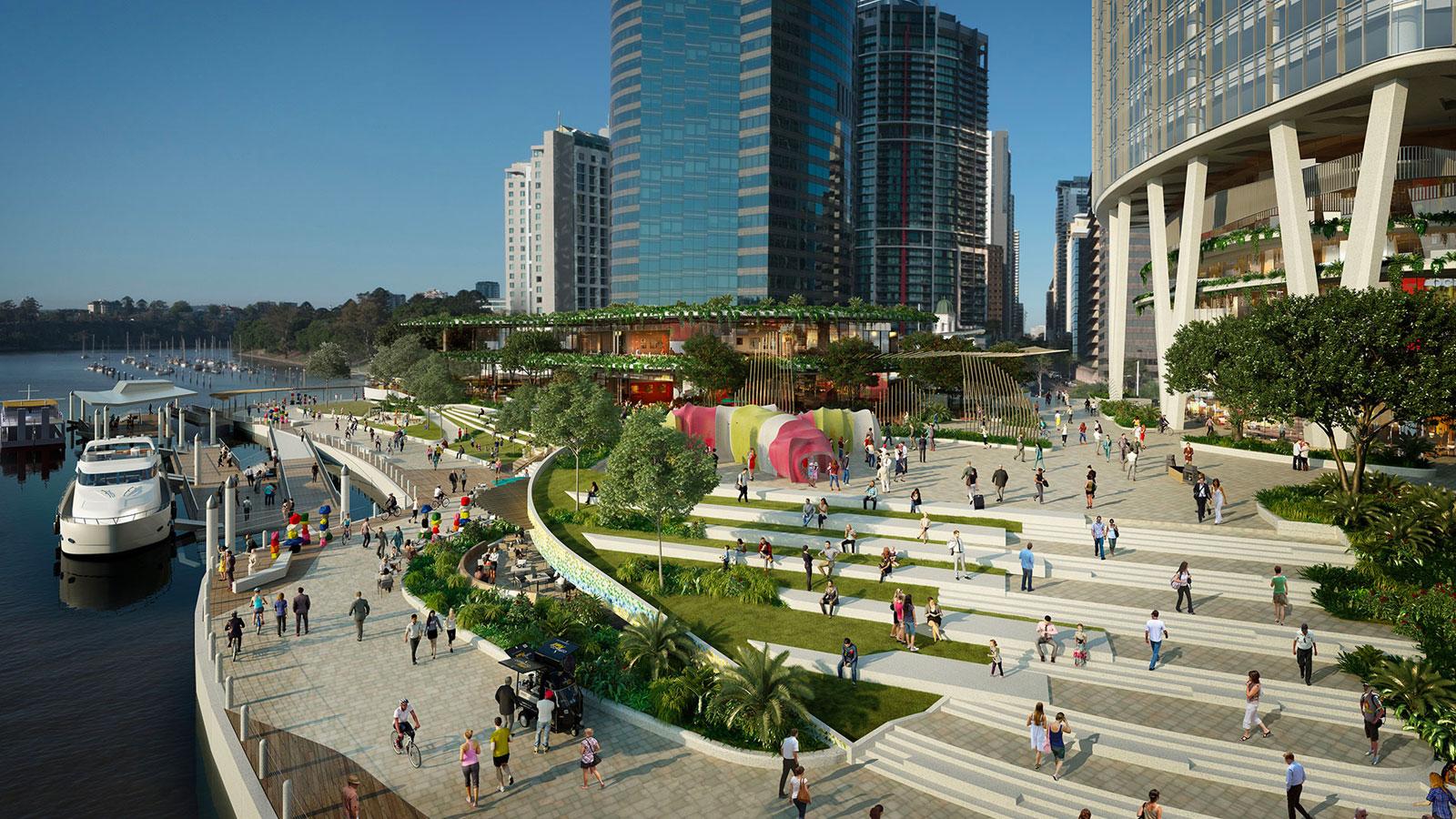 Eagle Street Pier Major development projects Brisbane