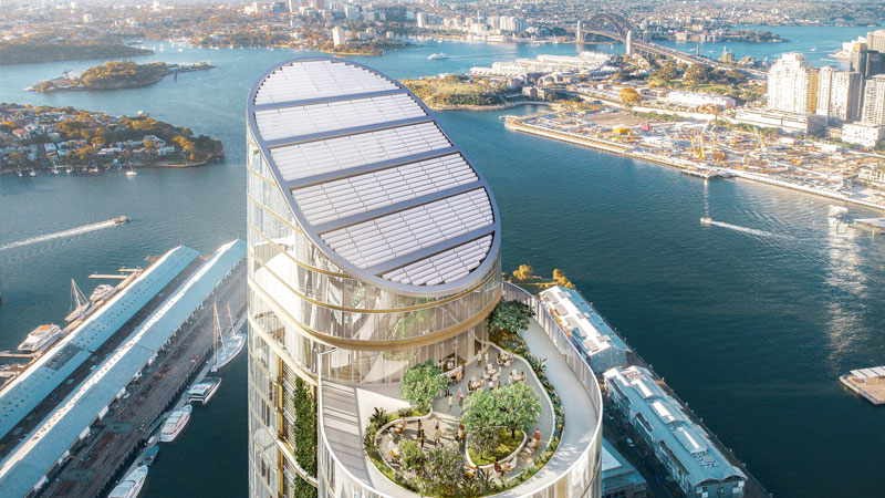 ▲ The proposed tower is more than eight times the maximum building height permitted under the Local Environmental Plan. Image: fjmt