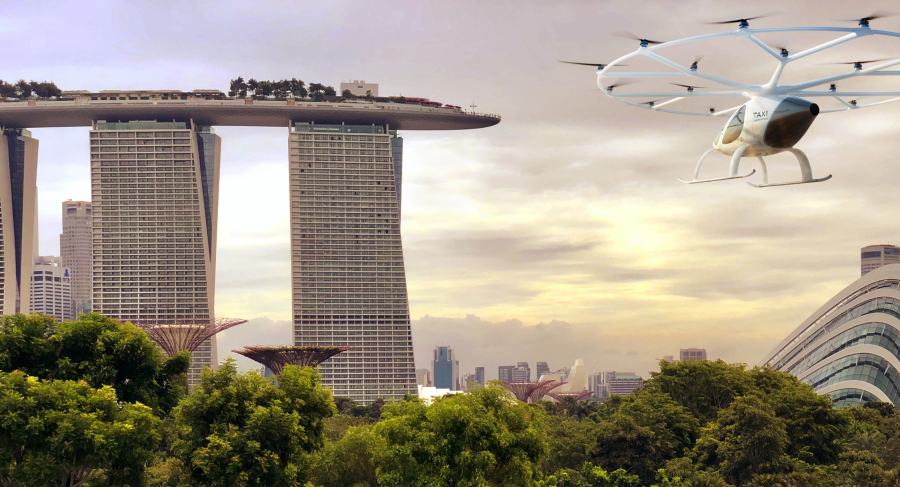 Flight tests will be designed to verify the ability of Volocopter's eVTOL vehicles to operate in Singapore's urban landscape.