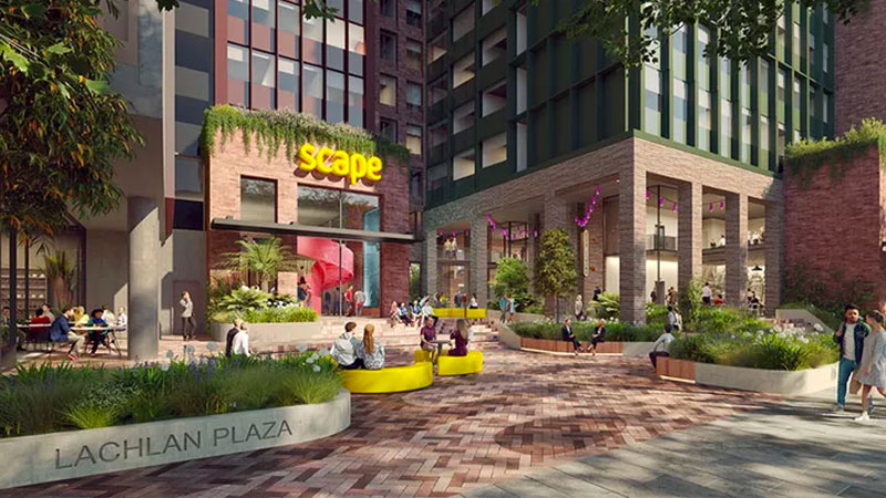 ▲ Scape also manages two real estate funds developing 18 student accommodation assets across Australia, with an end value of about $4 billion.
