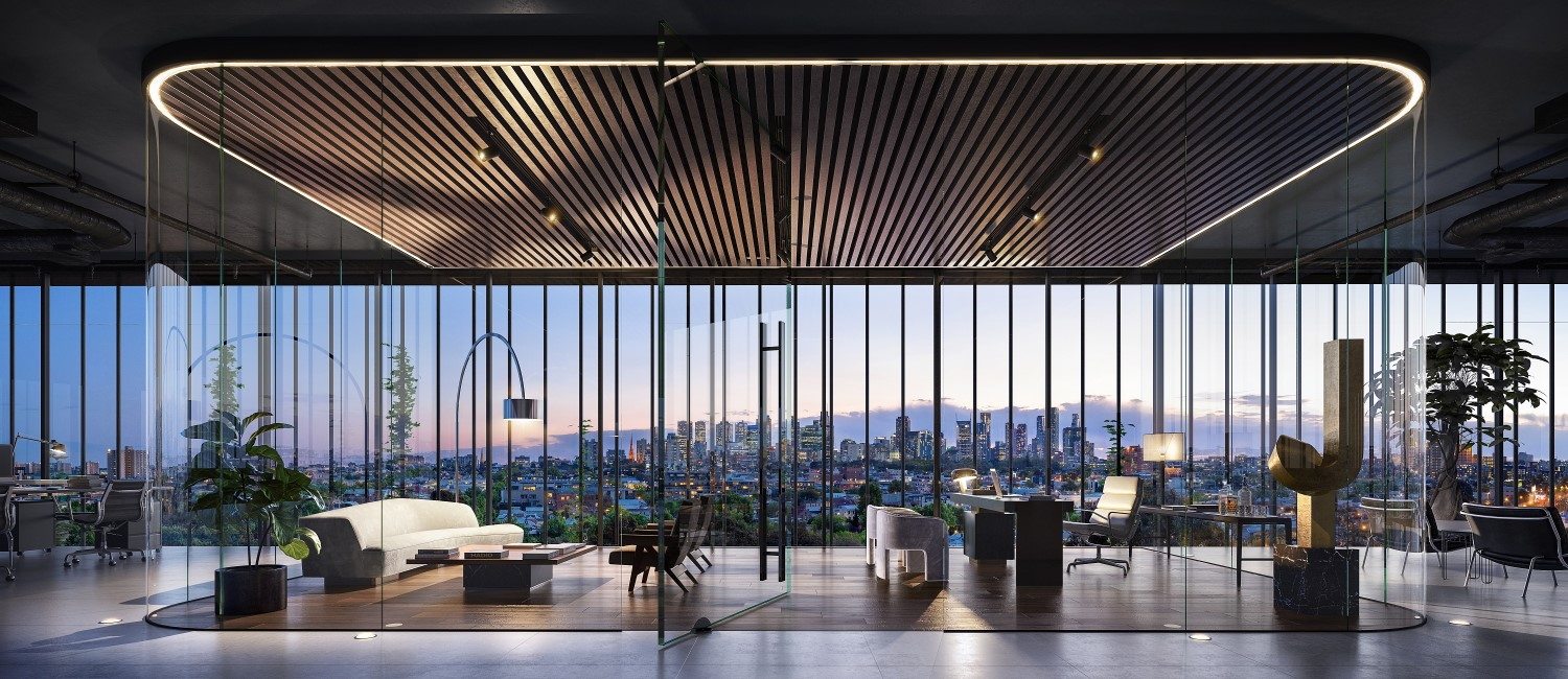 Interior artist rendering. The 81-89 Queens Parade permit marks the third in as many months for the developer in the City of Yarra.