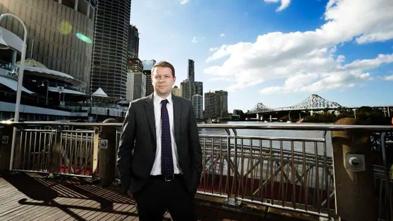 "▲ Property Council Queensland executive director Chris Mountford warned against Queensland's rates that would be ""far higher"" than NSW and Victoria. Image: News Corp Australia"