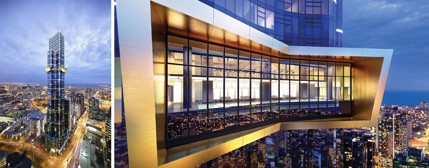 Residents will have access to some of Australia 108's extensive amenities, with the construction of the lap pool and gym area on level 11 already completed.