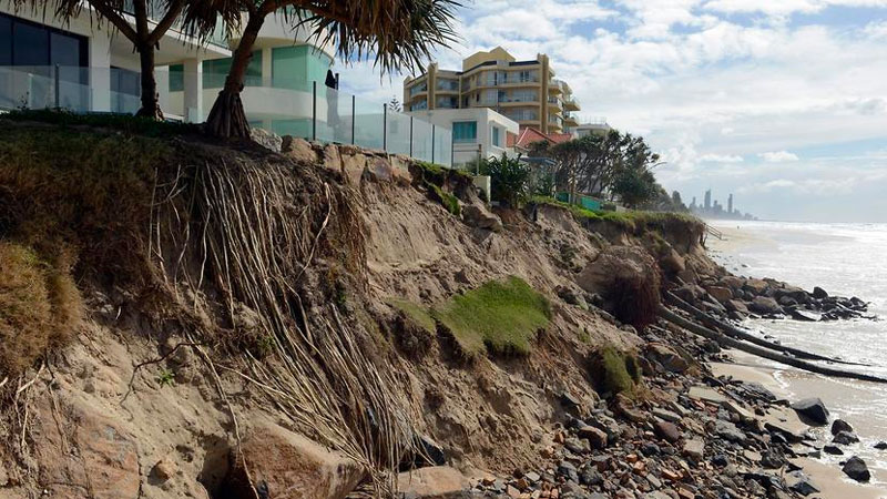 Up to $88 billion worth of homes are currently at risk in terms of damage from coastal erosion around Australia.