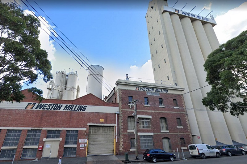 Weston Milling towers are an iconic feature of Arden and are located opposite the new Melbourne Metro.