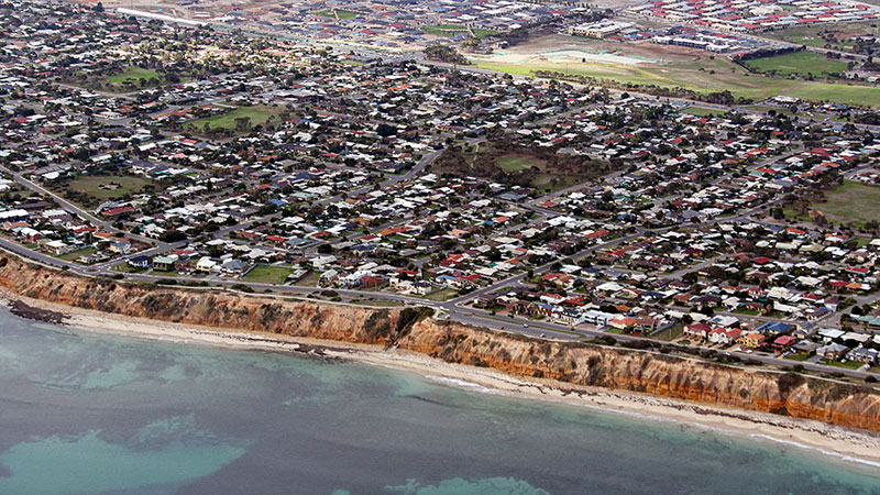One of Adelaide's popular beaches, Aldinga beach.