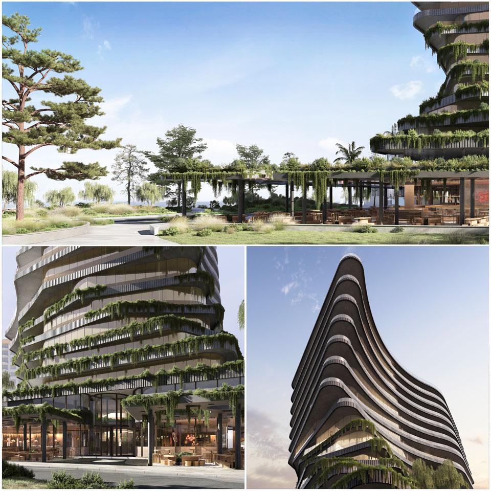 ▲ The landmark project, designed by nationally acclaimed architects Elenberg Fraser incorporates an international standard hotel and resort. Image: Elenberg Fraser
