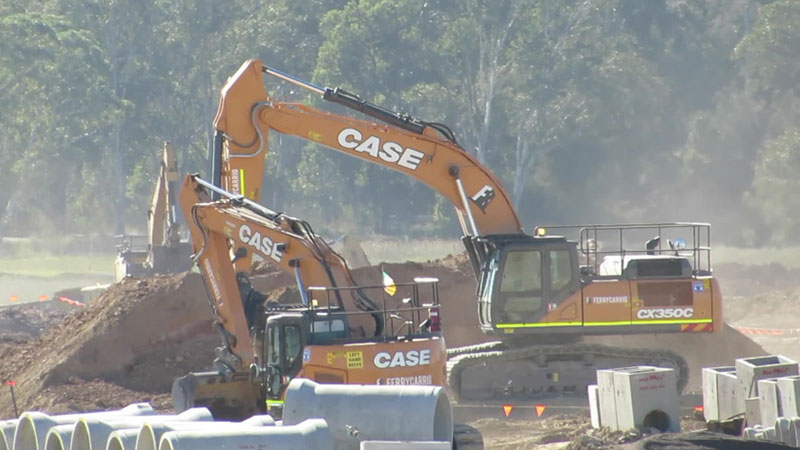 Excavation work taking place at Nancy-Bird Walton Airport in Badgerys Creek