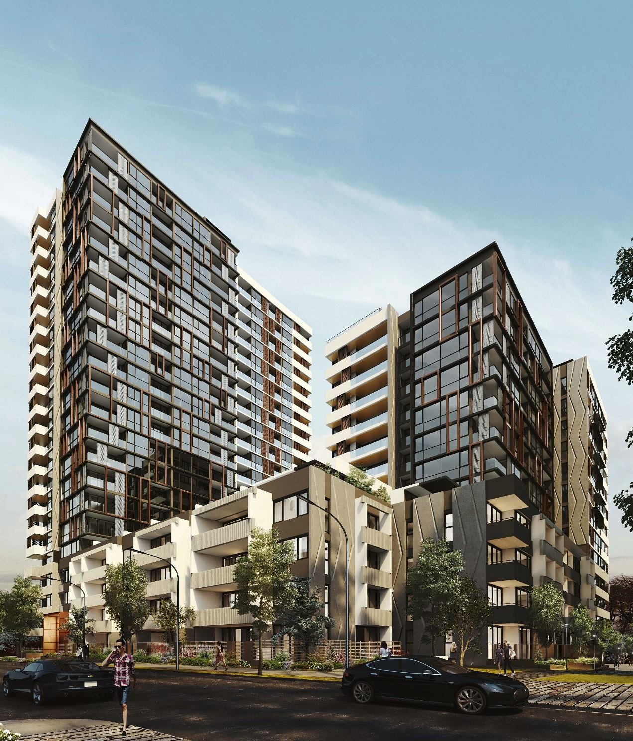 There are landscaped common areas provided on the ground and third floor levels of the development.