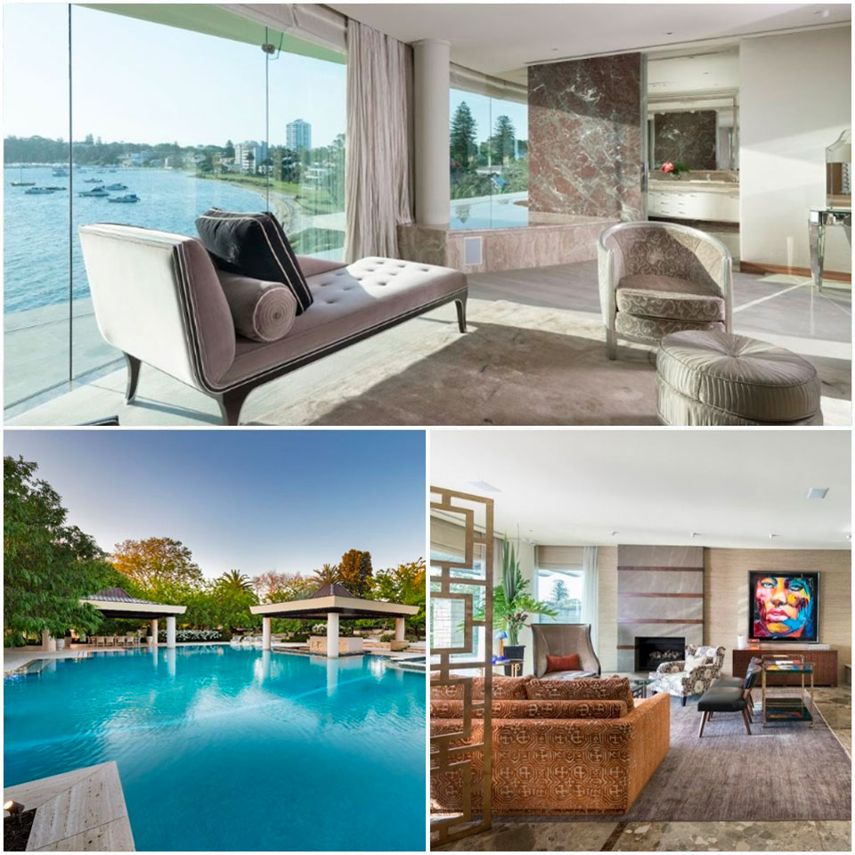 ▲ Set on the Swan River, the property boasts 270-degree views, boat storage and direct access to the foreshore. Image: Ray White