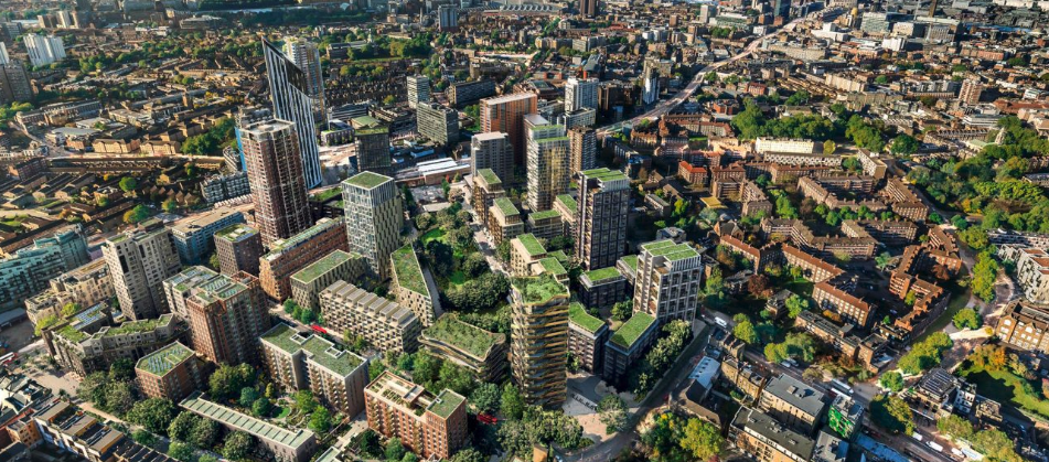 Elephant Park: A regeneration programme on 28 acres of land in the centre of Elephant & Castle. Scheduled for completion in 2025.