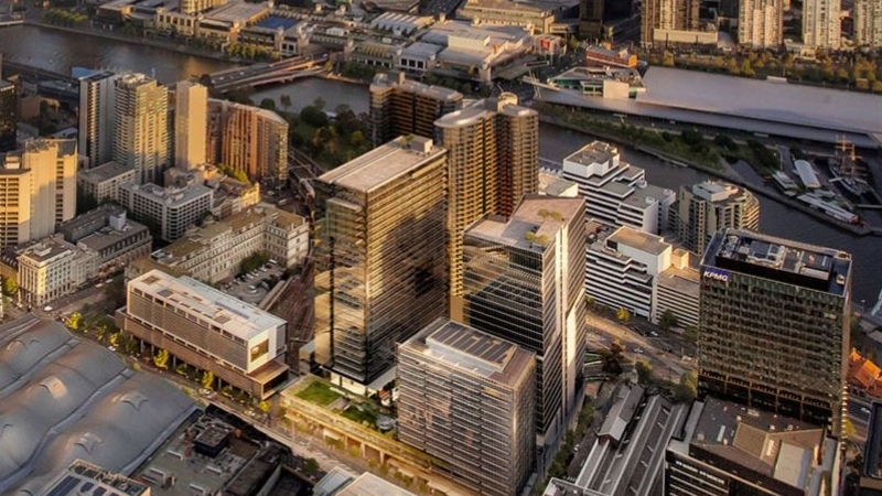 ▲ An overview of Lendlease's Melbourne Quarter project located between Southern Cross Station and the Yarra River.