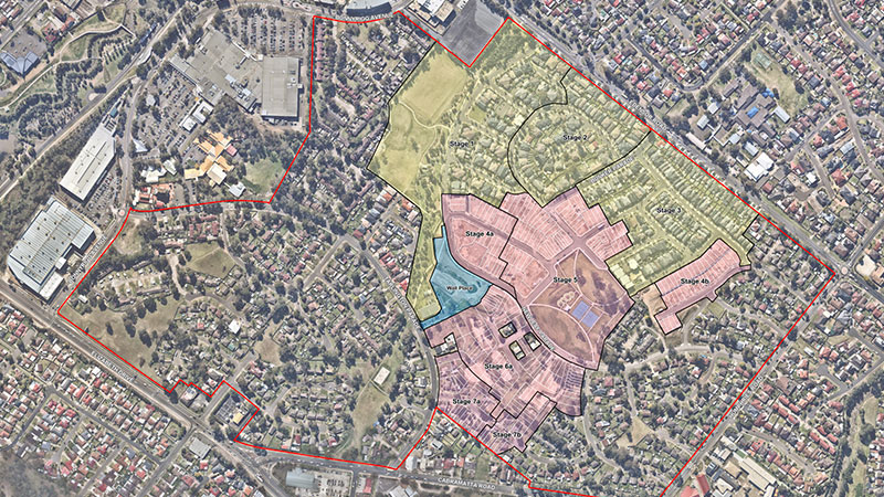 ▲ A total of 3000 new homes comprising a mix of 30pc social and 70pc private housing under the modified concept plan. Image: Land and Housing Corporation.