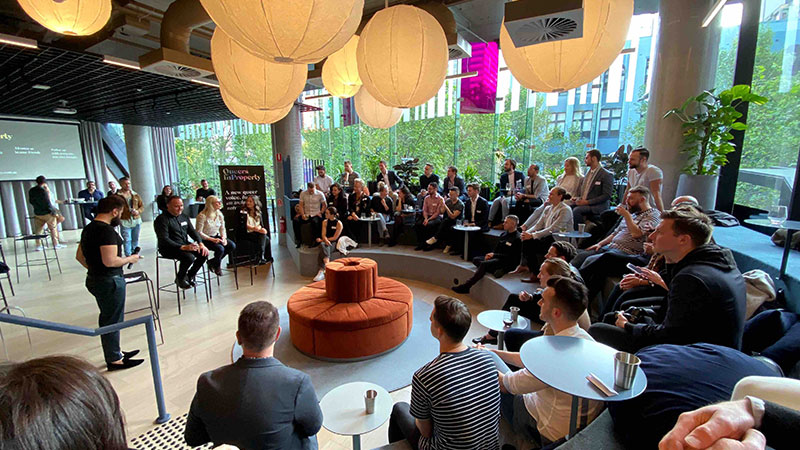 ▲ The first official QIP event this month, coinciding with National Coming Out Day. The panel of speakers included Carr's Director of Architecture and Interiors Chris McCue, Domain Lifestyle Editor January Jones and Multiplex's Victoria Dixon.