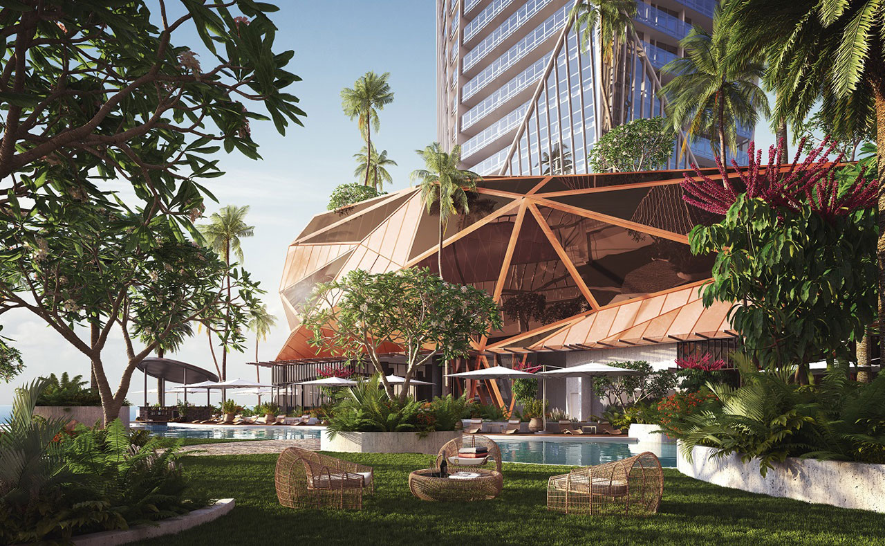 The Jewel will have an expansive beach-facing outdoor resort pool with swim-up bar.