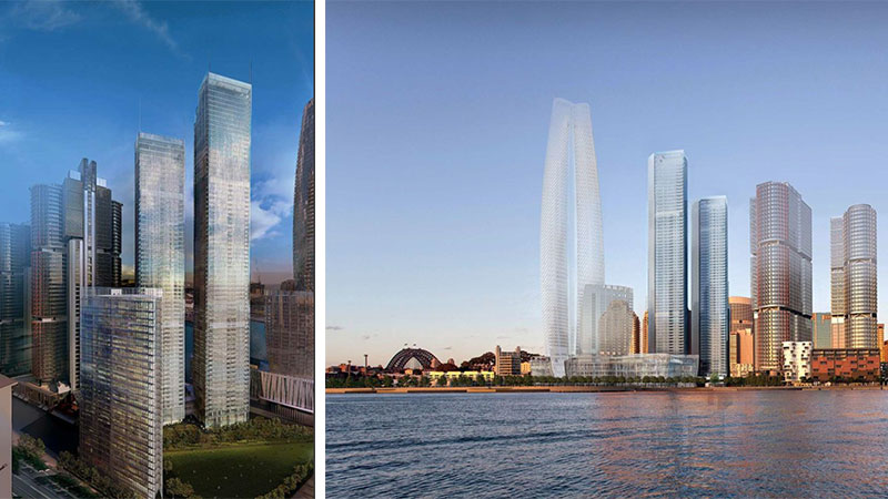 ▲ The final Renzo Piano designed tower is the shortest of the trio and will stand 103-metres at Barangaroo South.