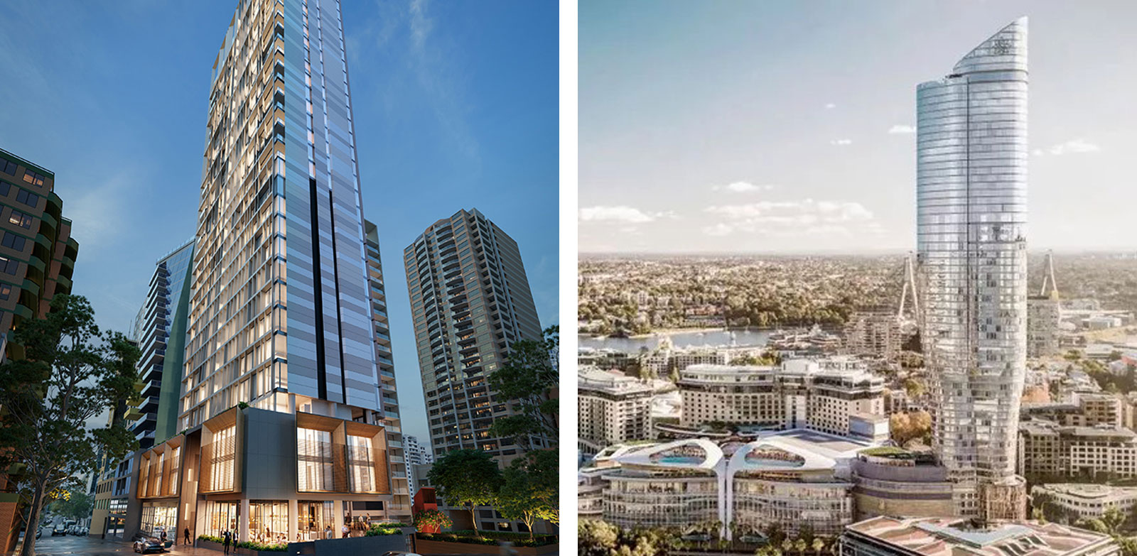 Rendering of the Fjmt-designed 9-25 Commonwealth Street (left) and the Ritz-Carlton, which is soon to come to market.