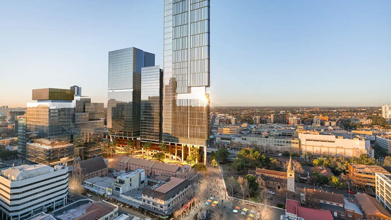 ▲ Plans for Walker Corp's 6 and 8 Parramatta Square