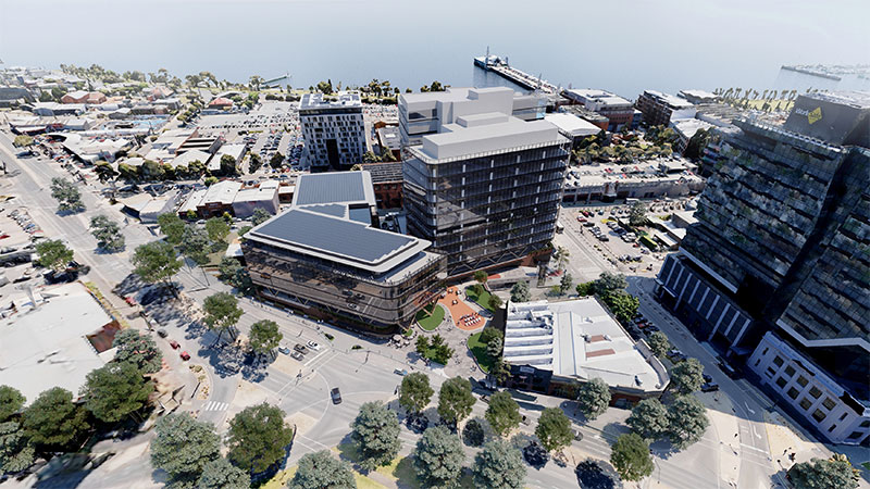 Geelong's new $220 million Civic Precinct is one of the latest development projects to be fast-tracked by the state. shovel-ready projects.