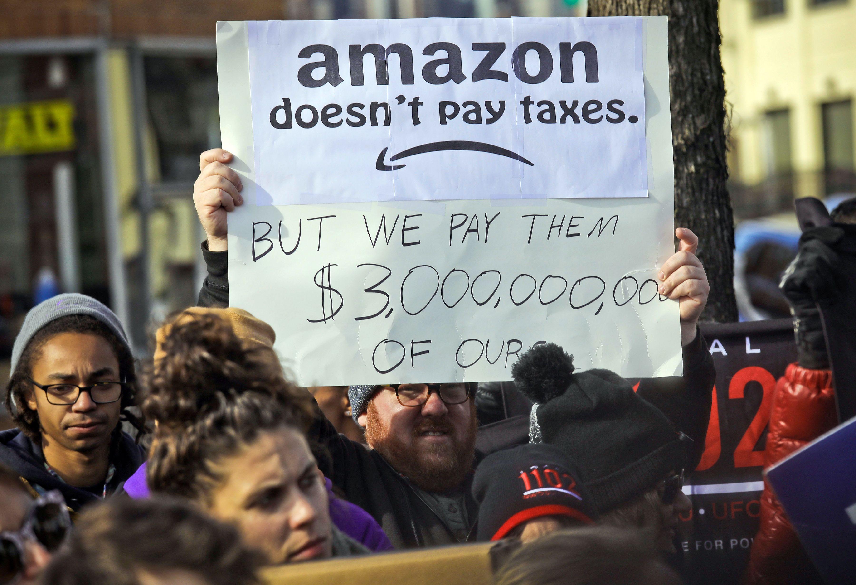 Amazon protesters 3