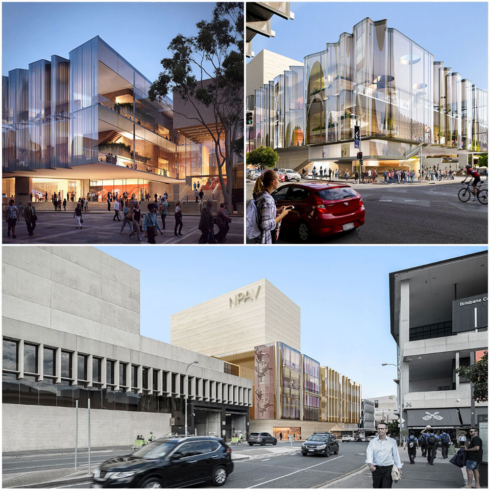 Concept design images released show the glass Grey and Russell Street façades.